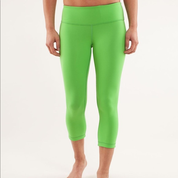 570a07f883 lululemon athletica Pants | Green Reversible Wunder Under Leggings ...